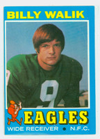1971 Topps Football 23 Billy Walik Philadelphia Eagles Excellent to Excellent Plus