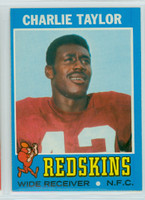 1971 Topps Football 26 Charley Taylor Washington Redskins Excellent to Mint