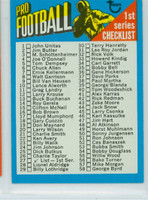 1971 Topps Football 27 Checklist One Excellent to Mint