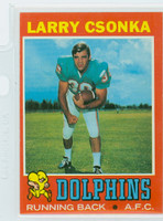 1971 Topps Football 45 Larry Csonka Miami Dolphins Excellent to Mint