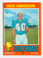 1971 Topps Football 67 Dick Anderson Miami Dolphins Excellent to Mint