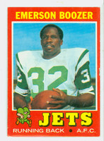 1971 Topps Football 73 Emerson Boozer New York Jets Very Good to Excellent