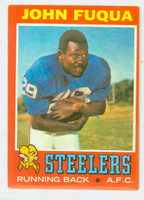 1971 Topps Football 76 John Fuqua ROOKIE Pittsburgh Steelers Very Good to Excellent