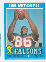 1971 Topps Football 84 Jim Mitchell Atlanta Falcons Excellent to Mint