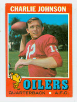 1971 Topps Football 85 Charlie Johnson Houston Oilers Very Good to Excellent