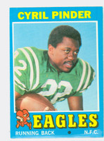 1971 Topps Football 87 Cyril Pinder Philadelphia Eagles Excellent to Mint