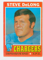 1971 Topps Football 92 Steve DeLong San Diego Chargers Excellent