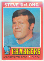 1971 Topps Football 92 Steve DeLong San Diego Chargers Near-Mint Plus