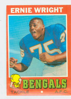 1971 Topps Football 99 Ernie Wright Cincinnati Bengals Excellent to Mint