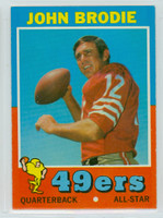 1971 Topps Football 100 John Brodie San Francisco 49ers Excellent to Excellent Plus