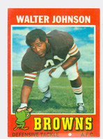 1971 Topps Football 104 Walter Johnson Cleveland Browns Excellent to Excellent Plus