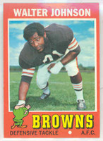 1971 Topps Football 104 Walter Johnson Cleveland Browns Near-Mint Plus