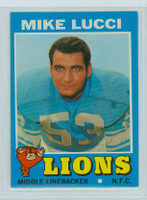 1971 Topps Football 105 Mike Lucci Detroit Lions Near-Mint