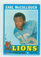 1971 Topps Football 127 Earl McCullouch Detroit Lions Excellent to Mint