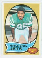 1970 Topps Football 3 Verlon Biggs New York Jets Excellent