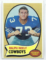 1970 Topps Football 4 Ralph Neely ROOKIE Dallas Cowboys Excellent to Mint