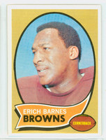 1970 Topps Football 8 Erich Barnes Cleveland Browns Excellent to Mint