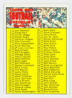1970 Topps Football 9 Checklist One Excellent