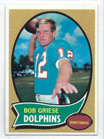 1970 Topps Football 10 Bob Griese Miami Dolphins Excellent to Mint
