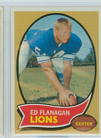 1970 Topps Football 11 Ed Flanagan Detroit Lions Near-Mint to Mint