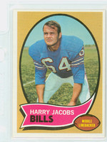 1970 Topps Football 13 Harry Jacobs Buffalo Bills Excellent to Mint