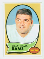 1970 Topps Football 18 Billy Truax Los Angeles Rams Excellent to Mint