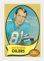 1970 Topps Football 19 Jim Beirne Houston Oilers Excellent to Mint