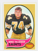 1970 Topps Football 22 Mike Tilleman New Orleans Saints Excellent to Mint