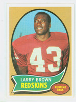 1970 Topps Football 24 Larry Brown ROOKIE Washington Football Team Near-Mint