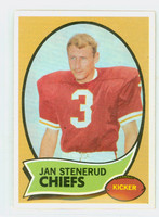 1970 Topps Football 25 Jan Stenerud ROOKIE Kansas City Chiefs Excellent to Mint