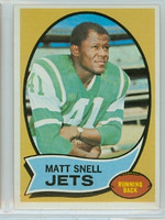 1970 Topps Football 35 Matt Snell New York Jets Near-Mint