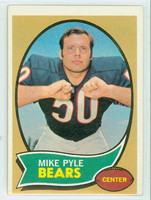 1970 Topps Football 37 Mike Pyle Chicago Bears Excellent