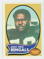 1970 Topps Football 42 Andy Rice Cincinnati Bengals Excellent to Excellent Plus