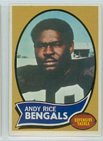 1970 Topps Football 42 Andy Rice Cincinnati Bengals Near-Mint