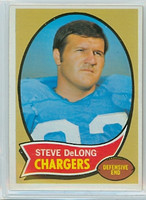 1970 Topps Football 49 Steve DeLong San Diego Chargers Near-Mint
