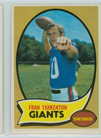 1970 Topps Football 80 Fran Tarkenton New York Giants Excellent to Mint