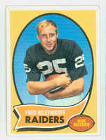 1970 Topps Football 85 Fred Biletnikoff Oakland Raiders Very Good to Excellent