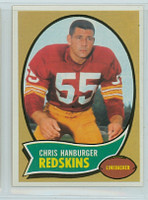 1970 Topps Football 93 Chris Hanburger Washington Redskins Near-Mint Plus