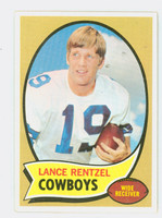1970 Topps Football 113 Lance Rentzel RED  Dallas Cowboys Excellent to Mint