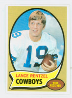 1970 Topps Football 113 Lance Rentzel RED  Dallas Cowboys Near-Mint