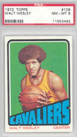 1972 Topps Basketball 109 Walt Wesley Cleveland Cavaliers PSA 8 Near Mint to Mint