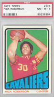 1972 Topps Basketball 126 Rick Roberson Cleveland Cavaliers PSA 8 Near Mint to Mint
