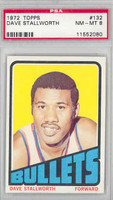 1972 Topps Basketball 132 Dave Stallworth Baltimore Bullets PSA 8 Near Mint to Mint