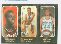 1971 Topps Basketball Trios ABA 1-3 Jones / Wise / Issel Single Print Excellent to Mint
