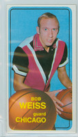 1970 Topps Basketball 16 Bob Weiss Chicago Bulls Very Good to Excellent