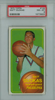 1970 Topps Basketball 124 Matt Guokas ROOKIE Philadelphia 76ers PSA 8 Near Mint to Mint
