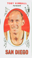 1969 Topps Basketball 39 Toby Kimball San Diego Rockets Excellent to Excellent Plus
