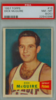 1957 Topps Basketball 16 Dick McGuire ROOKIE Detroit Pistons PSA 8 OC