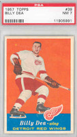1957-58 Topps Hockey 39 Billy Dea Detroit Red Wings PSA 7 Near Mint