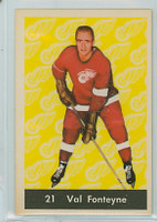 1961-62 Parkhurst Hockey 21 Val Fonteyne Detroit Red Wings Near-Mint Plus